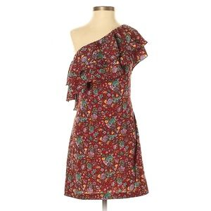 Torn by Ronny Kobo One Shouder Floral Casual Dress